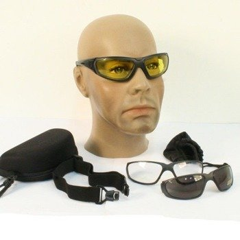 okulary taktyczne GOGGLE 3IN1 Paintball BLACK
