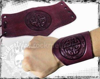 opaska na rękę wiązana 90mm TRIBAL red