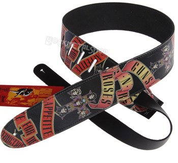 pas do gitary GUNS N'ROSES - APPETITE FOR DESTRUCTION skórzany, 63mm