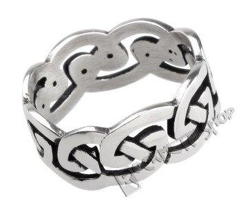 pierścień CELTIC KNOT, srebro 925