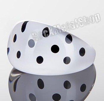 pierścień DOTS biały