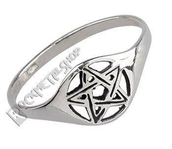 pierścień PENTAGRAM, srebro 925