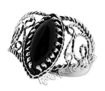 pierścionek BLACK WEAVE, srebro 925