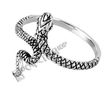 pierścionek SNAKE, srebro 925