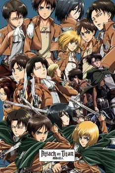 plakat ATTACK ON TITAN - COLLAGE