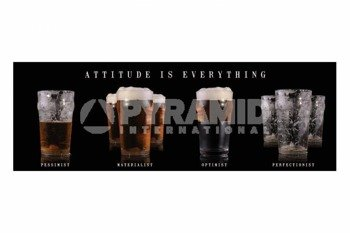 plakat BEER - ATTITUDE IS EVERYTHING