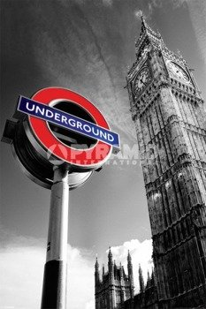 plakat BIG BEN & UNDERGROUND SIGN