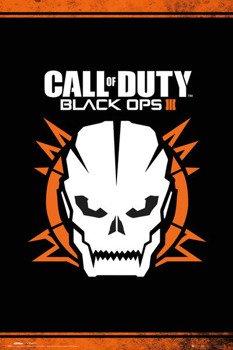 plakat CALL OF DUTY BLACK OPS 3 - SKULL