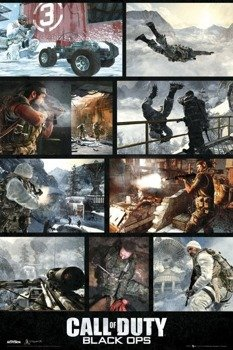 plakat CALL OF DUTY BLACK OPS -  SCREENSHOTS