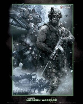 plakat CALL OF DUTY MW 2 - COLLAGE