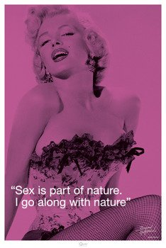 plakat MARILYN MONROE - QUOTE SEX