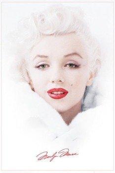 plakat MARILYN MONROE - WHITE