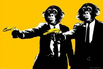 plakat MONKEYS BANANAS