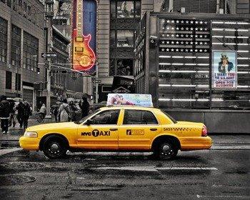 plakat NEW YORK - 7TH AVENUE TAXI