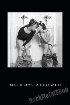 plakat NO BOYS ALLOWED
