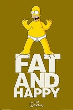 plakat SIMPSONS - FAT AND HAPPY
