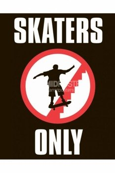 plakat  SKATERS ONLY