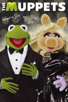 plakat THE MUPPETS - KERMIT AND PIGGY