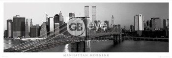 plakat panoramiczny NEW YORK - MANHATTAN MORNING