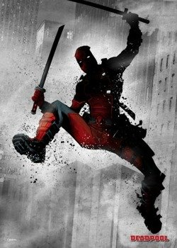 plakat z metalu MARVEL - DEADPOOL