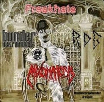 płyta CD: FREAKHATE / MIXOMATOSIS / R.D.B. / BUNDER NEKROMUNDA - 4 WAYS OF VOMITS & MURDERS (split CD)