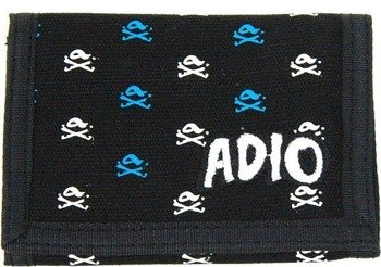 portfel ADIO-CROSSED TRIFOLD (BLACK)