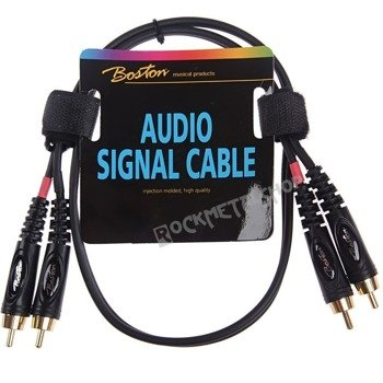 przewód audio BOSTON: 2 x RCA - 2 x RCA (cinch) / 75cm