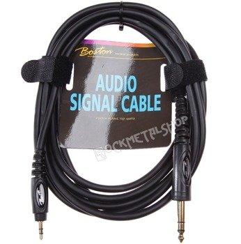 przewód audio BOSTON: DUŻY JACK (6.3mm) stereo - MAŁY JACK (3.5mm) stereo / 3m
