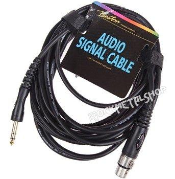 przewód audio BOSTON: XLR żeński -  DUŻY JACK STEREO (6.3mm) / 3m