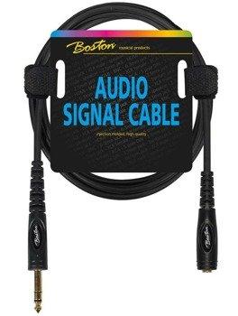 przewód audio BOSTON: gniazdo JACK STEREO (6.3mm) -  DUŻY JACK STEREO (6.3mm) / 3m