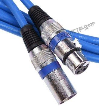 przewód mikrofonowy BOSTON BLUE: XLR żeński -  XLR męski / 10m