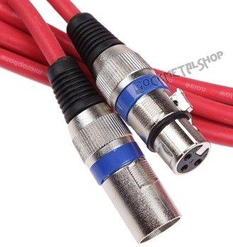 przewód mikrofonowy BOSTON RED: XLR żeński -  XLR męski / 10m