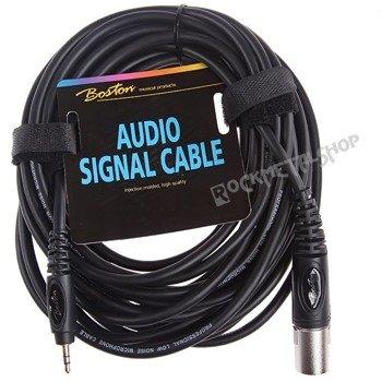 przewód mikrofonowy BOSTON: XLR - MAŁY JACK STEREO (3.5mm) / 9m