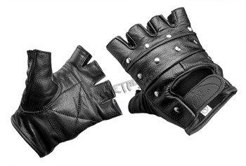 rękawiczki SKÓRZANE, bez palców z ćwiekami Pukle
