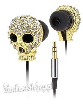 słuchawki ROCK DADDY - SKULL GOLD (92009-004)