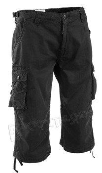 spodnie bojówki 3/4 AIR COMBAT PANTS PREWASH SCHWARZ