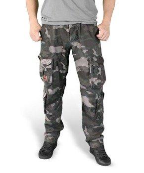 spodnie bojówki AIRBORNE VINTAGE TROUSERS SLIMMY BLACK CAMO