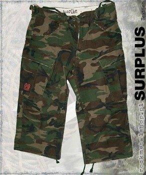 spodnie bojówki krótkie 3/4 Engineer Vintage - woodland gewaschen