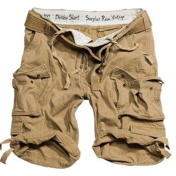 spodnie bojówki krótkie DIVISION SHORTS beżowe