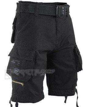 spodnie bojówki krótkie SAVAGE VINTAGE SHORTS - BLACK