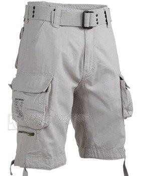spodnie bojówki krótkie SAVAGE VINTAGE SHORTS - OLD WHITE