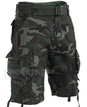 spodnie bojówki krótkie SAVAGE VINTAGE SHORTS - WOODLAND