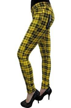 spodnie damskie BANNED - YELLOW CHECK