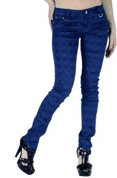 spodnie damskie BLUE GRID