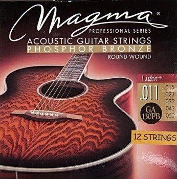 struny do gitary akustycznej 12 str. MAGMA GA130PB Phosphor Bronze / Light+ /011-052/