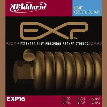 struny do gitary akustycznej D'ADDARIO Phosphor Bronze / LIGHT EXP16 /012-053/