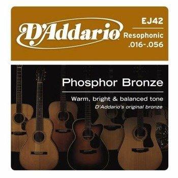 struny do gitary akustycznej D'ADDARIO - Resophonic EJ42 /016-056/