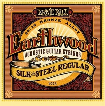 struny do gitary akustycznej ERNIE BALL Earthwood 80/20 SILK AND STEEL Regular EB2043 /013-056/