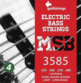 struny do gitary basowej GALLI STRINGS - MAGIC SOUND MSR42 HEXAGONAL /035-085/