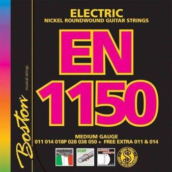 struny do gitary elektrycznej BOSTON EN-1150 NICKEL ROUNDWOUND /011-050/